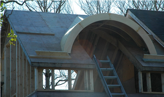 Eyebrow and barrel dormers for Barrel dormer